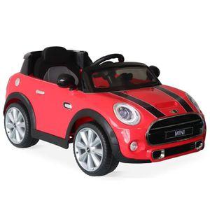 VOITURE ENFANT MINI Cooper rouge, voiture électrique 12V, 1 place