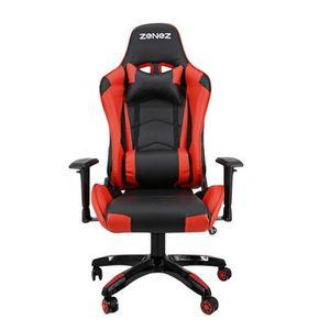 SIÈGE GAMING Gaming racing PC chaises de jeu rouge fauteuil de
