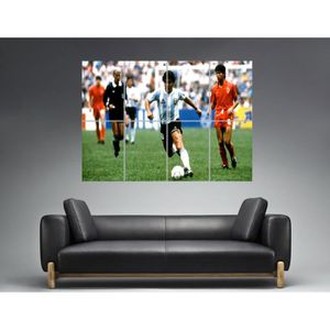 AFFICHE - POSTER Diego Maradona Action Football Wall Art Poster Gra