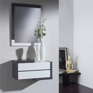 MEUBLE D'ENTRÉE Meuble d\'entrée Cendre + miroir - RECTO