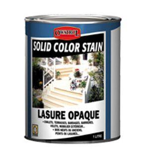 PEINTURE - VERNIS Solid Color Stain - Lasure opaque pour bois ext…