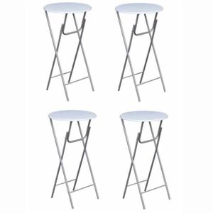 MANGE-DEBOUT TABLE DE BAR style contemporain-DEBOUT 4 pcs avec