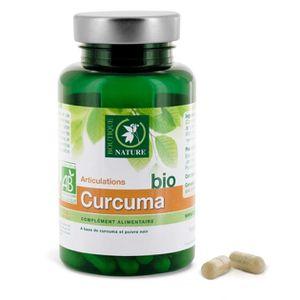 COMPLÉMENT ARTICULATION Curcuma + poivre noir BIO - 60 gélules végétale…