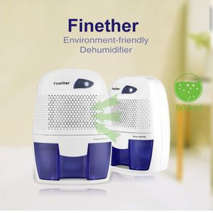 DÉSHUMIDIFICATEUR Finether 500ml Mini Déshumidificateur d'Air Portab