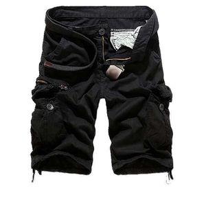 5e0ec834a3938 Demarkt Short large homme noir - Achat / Vente short - Cdiscount