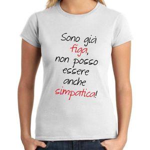 T-SHIRT T-shirt Femme TDM00260 sono gia figa non posso ess