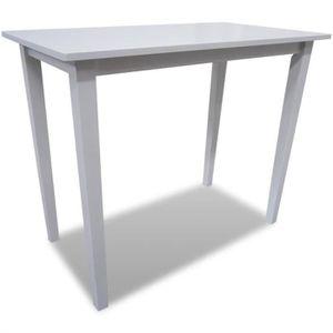 MANGE-DEBOUT Table de bar en bois Blanc 110 x 60 x 90,8 cm (L x