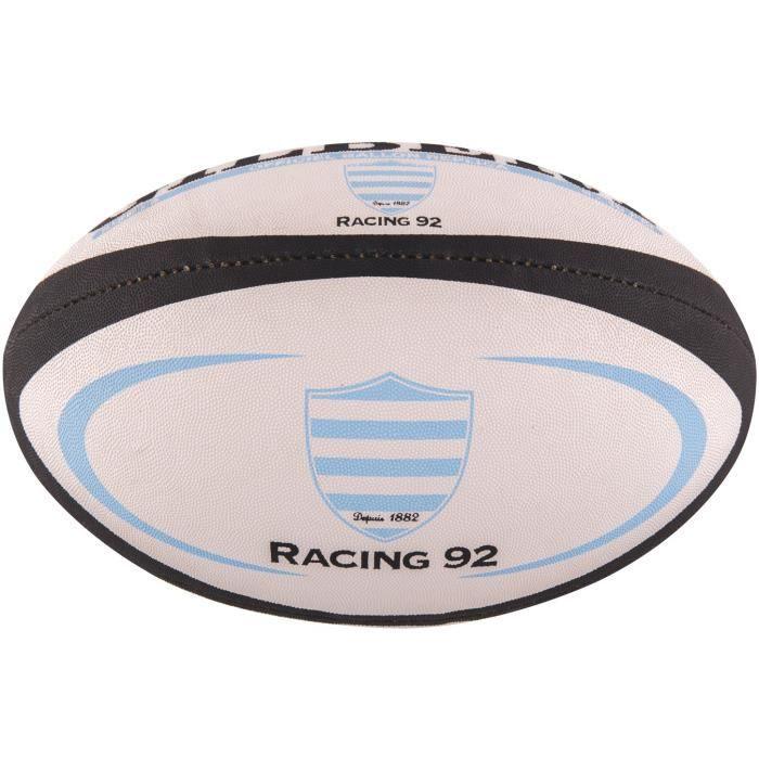 Gilbert ballon de rugby replica racing 92 taille mini
