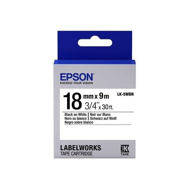 EPSON bande d'étiquettesLK5WBN - Noir et tricolore