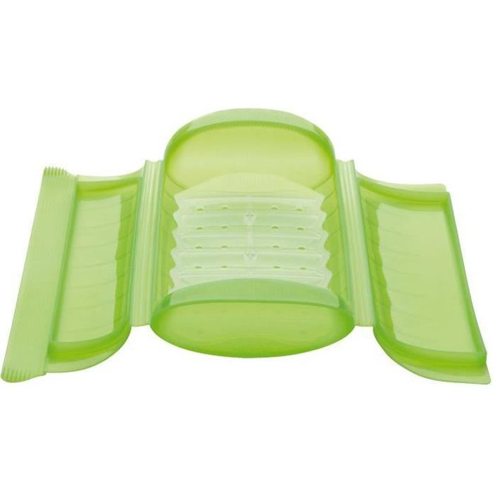 Papillote 1/2 personnes - silicone, vert