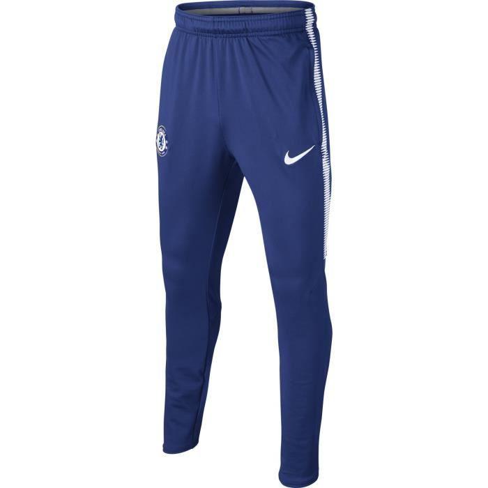 NIKE Pantalon de survêtement Chelsea FC Squad 2017/2018 - Enfant garçon - Bleu