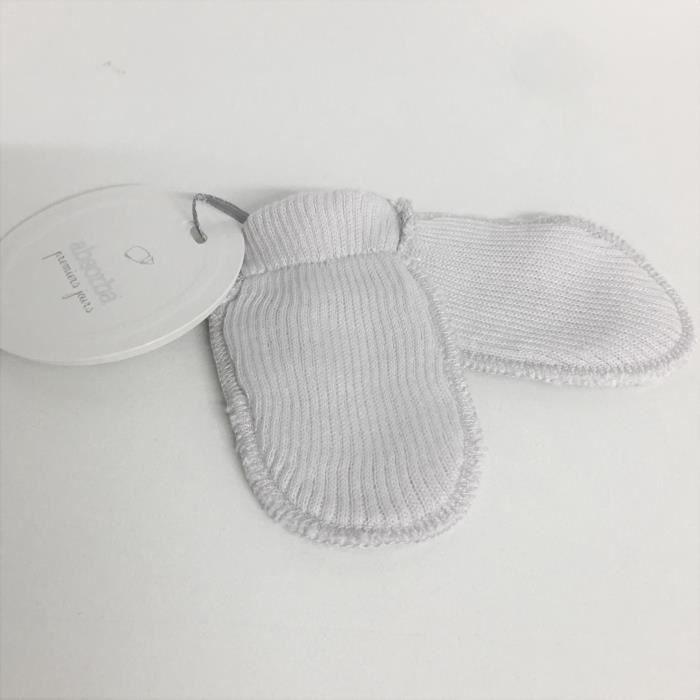 Bonnet premier jour coton bio absorba-1 - 3 mois-gris perle - Achat ... 5b1224a1ff6