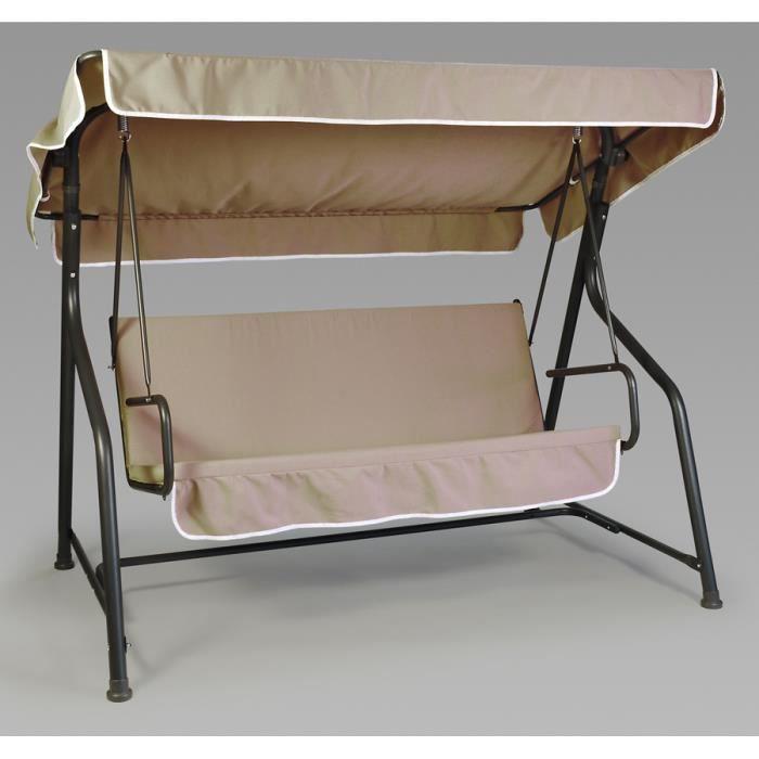 coussins toit pour balancelle 3 places gris tour achat vente coussin d 39 ext rieur coussins. Black Bedroom Furniture Sets. Home Design Ideas