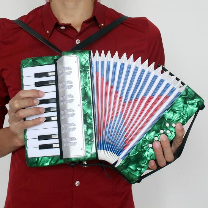 b50a8e480375a Petit mini clé 17 8 basse accordéon Instrument de musique éducatifs jouet  pour enfants débutant Amateur