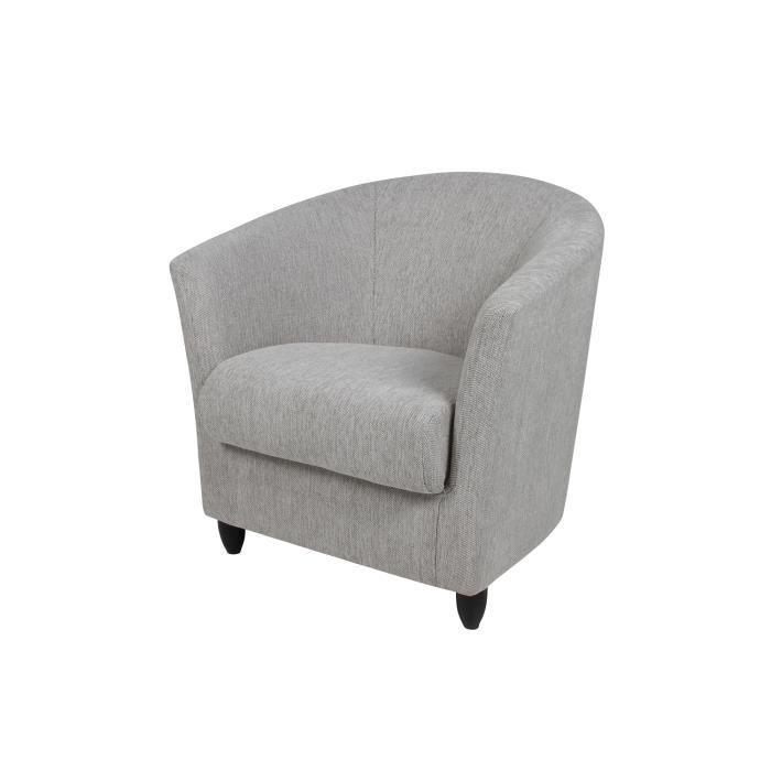 fauteuil club lux en tissu beige achat vente fauteuil. Black Bedroom Furniture Sets. Home Design Ideas