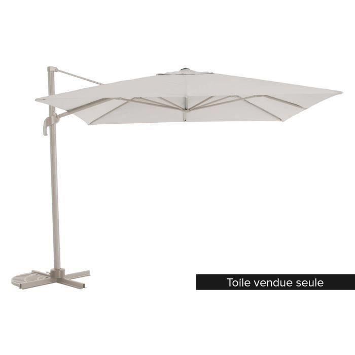 toile de rechange pour parasol fresno 3 x 3 m taupe - achat