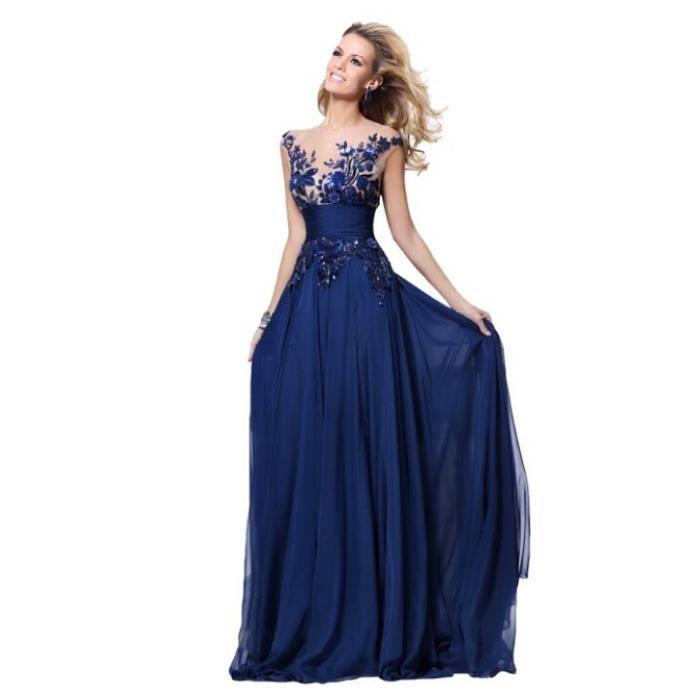 aa4b1163921 Bleu robe longue