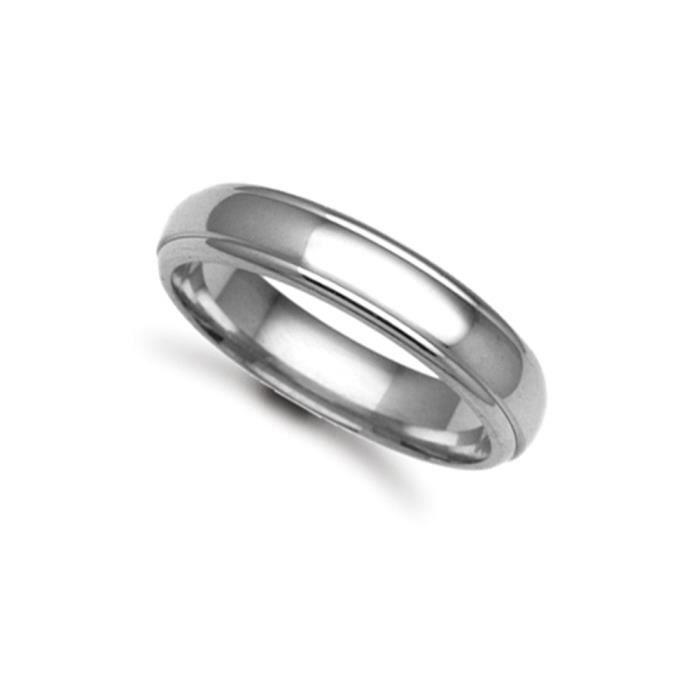 Jewelco Londres anneau de mariage à la main 9K or blanc tribunal 5mm