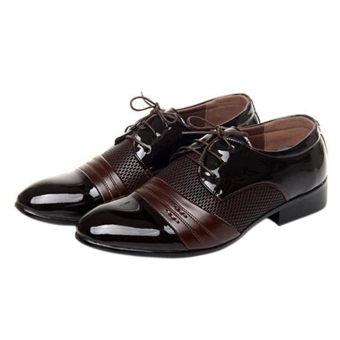 Homme Soulier Richelieu Simple avec Lacet de Chaussure Business Casual zYBGf