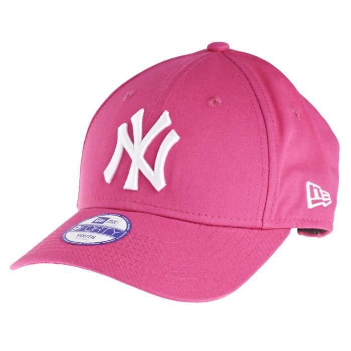 9d754daafe New Era 9Forty Stretched KIDS Casquette - NY Yanke Rose - Achat ...