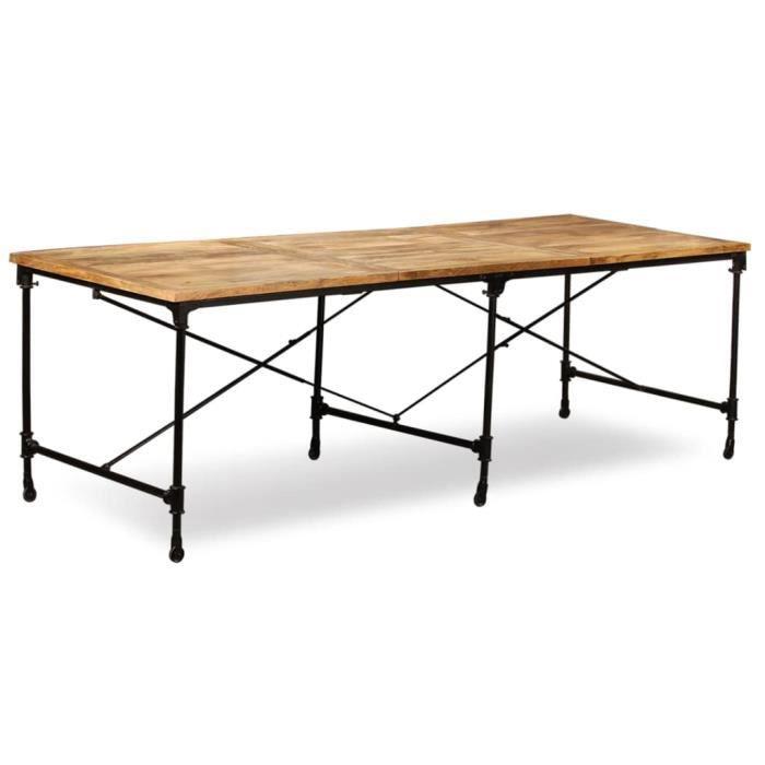Table Industrielle Bois Massif Achat Vente Pas Cher