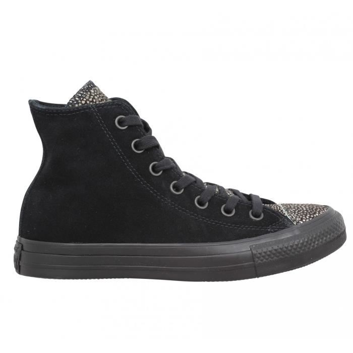 Baskets CONVERSE Chuck Taylor All Star Hi velours Femme-38-Noir xuMbg5