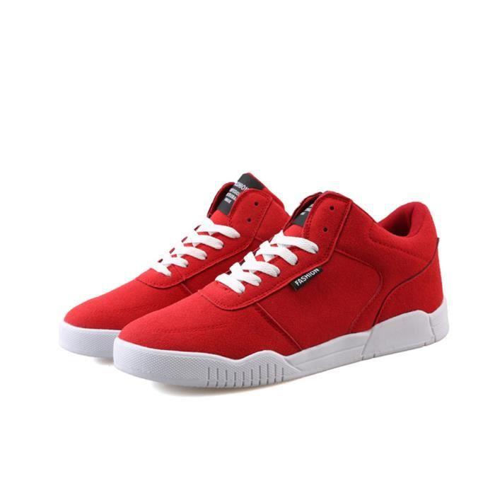 Durable Supérieure Hommes Marque Confortable Plus Nouvelle Baskets Qualité rouge de Taille homme Chaussures Luxe Mode De sport Y1Uvwv