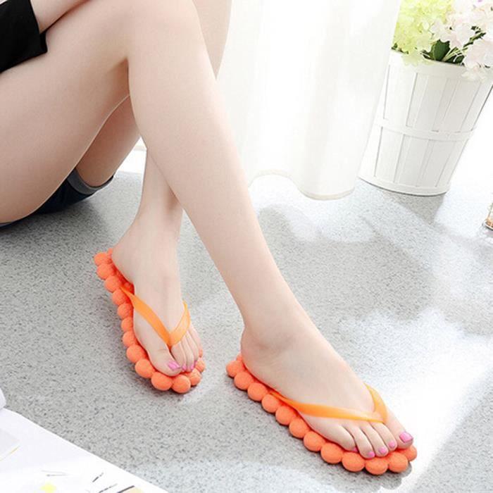 Massage De Mode Occasionnels Pantoufles Tongs Des Orange Plage Femmes D't Voyager Chaussures pRw4qvU