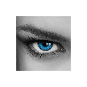 4a162a75d0f578 LENTILLES DE CONTACT Lentilles de Contact Bleues Avec Etui   Effet Blue