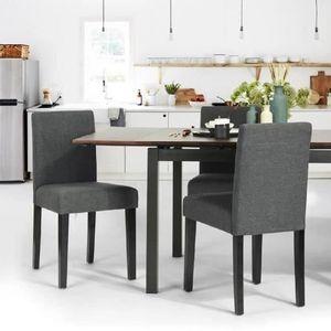 chaise de cuisine gris achat vente chaise de cuisine. Black Bedroom Furniture Sets. Home Design Ideas