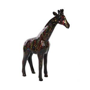 OBJET DÉCORATIF Statue en résine girafe multicolore astre -Noémie-