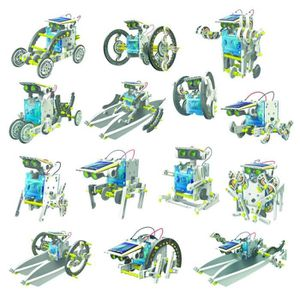 ASSEMBLAGE CONSTRUCTION 14 en 1, 14 robots solaires différents, kit à cons