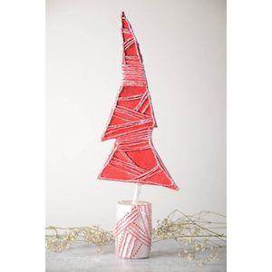 Sapin artificiel fait main Arbre décoratif papier mâché Déco maison Noël. ,  Référence 139709570