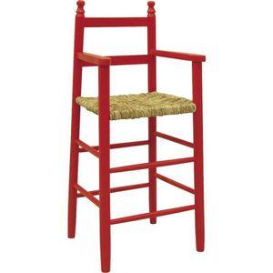 CHAISE HAUTE  Chaise haute pour enfant en hêtre rouge et rose…