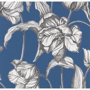 Papier peint intisse bleu achat vente papier peint - Papier peint intisse pas cher ...