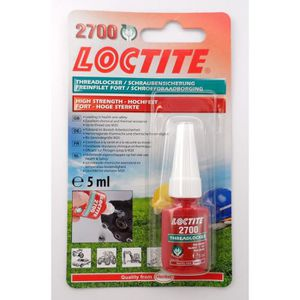 COLLE - PATE FIXATION Loctite 2700 Frein Filet Fort, Gamme Pro, 5ml