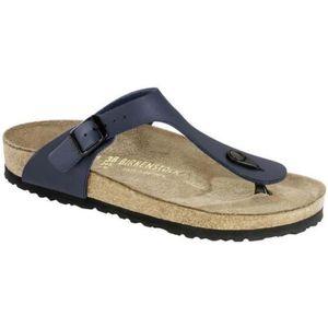 SANDALE - NU-PIEDS Fleur bleue foncé sandales femmes Birkenstock Gize