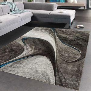 tapis tapis madila noir tapis moderne 120 x 170 cm - Achat Tapis Salon