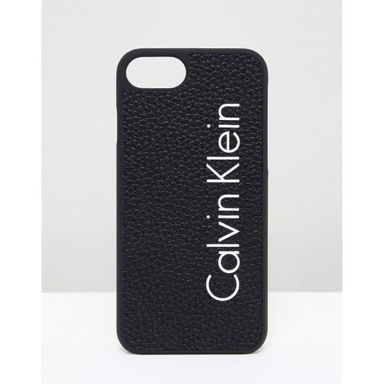Calvin Klein Coque pour iPhone 7 avec logo DXB3S - Achat coque - bumper pas  cher c27414074f9