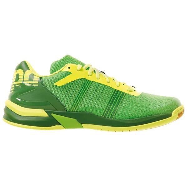 KEMPA Chaussures de handball Attack Three Contender - Homme - Vert et jaune fluo