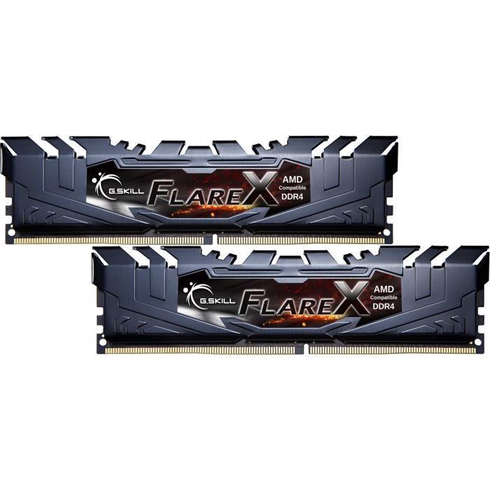 Conçu et testé pour AMD Ryzen - Compatibilité optimisée avec les chipsets AMD X370, B350 et A320MEMOIRE PC - PORTABLE