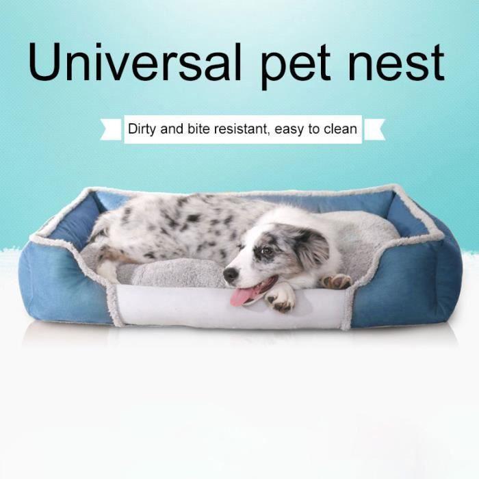 (bleu) Tapis Pour Chien Couleur Unie Fashion New Cute Pet Universel Nest Accueil L Code Taille: 75 X 56x 17 Cm