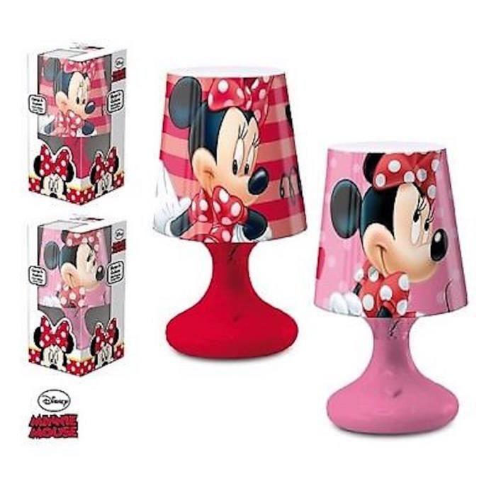e97c9dd811dd8 Lampe de Chevet Boule DISNEY MINNIE MOUSE Enfant Chambre en Rose - LQ2035