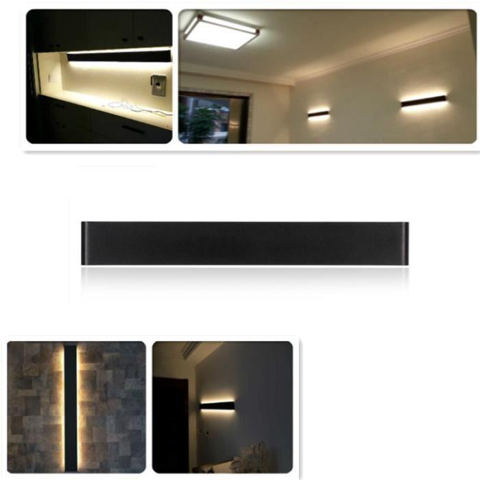 Led En Aluminium Applique Murale Lampe De Chevet Salon Chambre Lumières Miroir De Salle De Bain 14w 51cm Blanc Chaud
