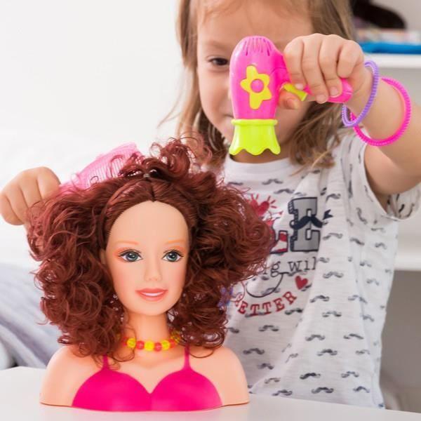 TÊTE À COIFFER Buste poupée à coiffer avec accessoires - Tête à c