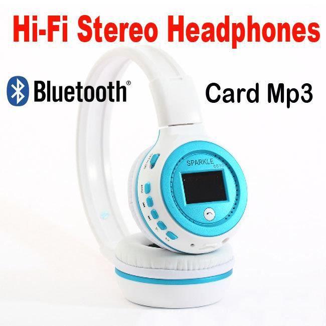 Casque Bluetooth Sans Fil Lecteur Mp3 Intégré Radio Fm
