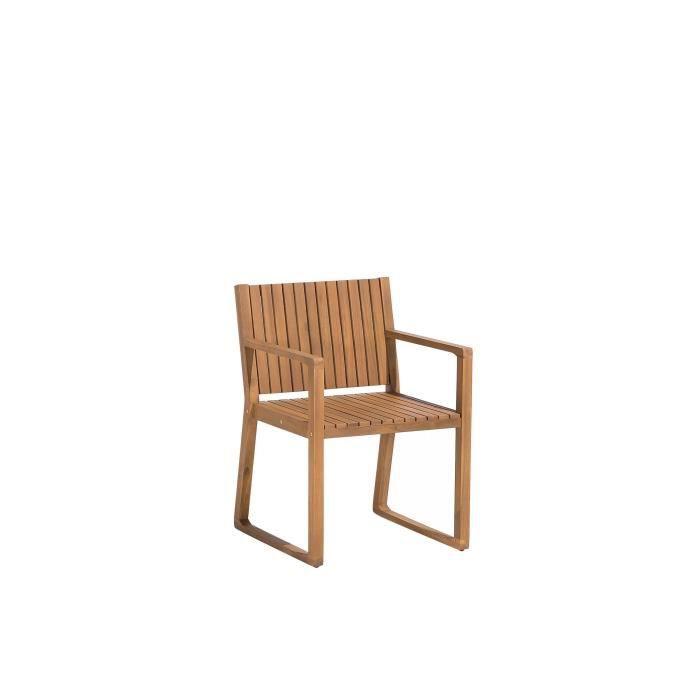 Chaise de jardin en bois Sassari - Achat / Vente salon de jardin ...