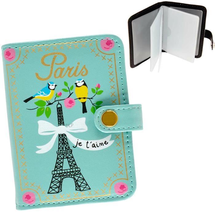 Porte Cartes De Fidélité PARIS JE TAIME Motif Tour Eiffel Etui - Porte carte de fidélité