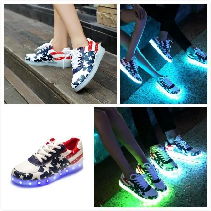 Lacets Lumineux OFFERT Chaussures LED Femme Hom... BexD2
