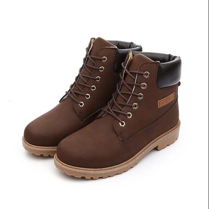 Femmes/hommes Bottines Femmes/Hommes Bottes Chaussures à lacets en cuir New Fashion Suede Winter